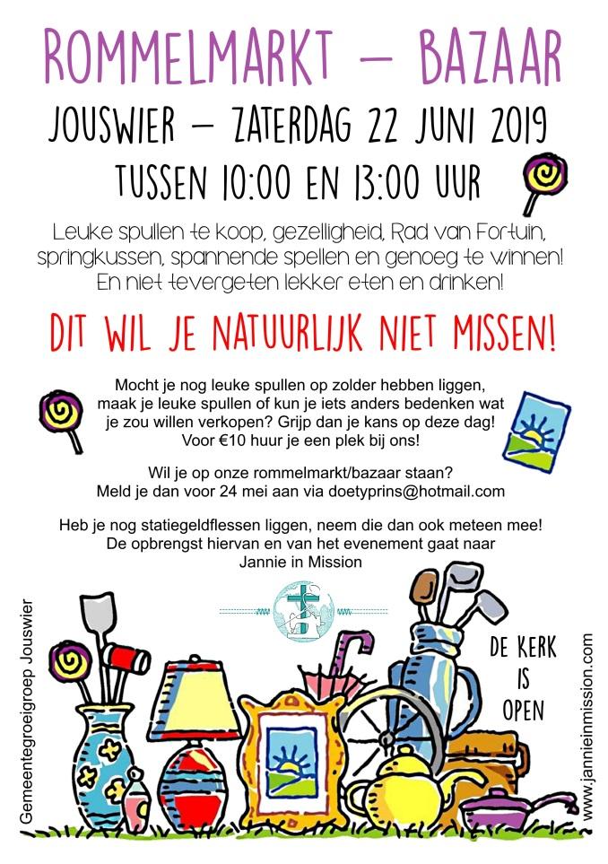 Flyer rommelmarkt Jouswier