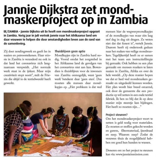 Mondmaskerproject Zambia Westereender1